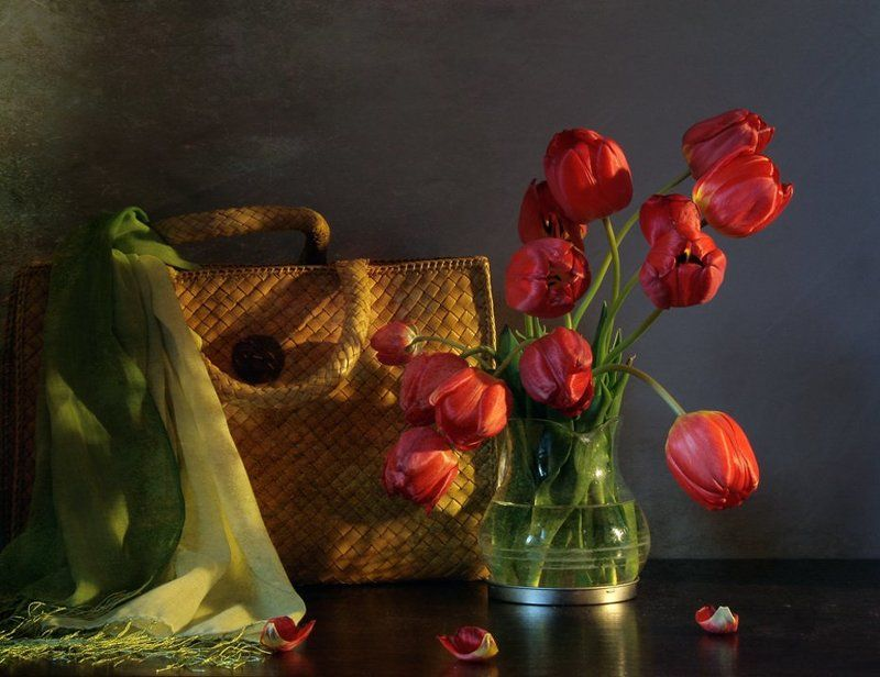 Весна, Натюрморт, Праздник, Тюльпаны, Фотонатюрморт Домой пришла...photo preview