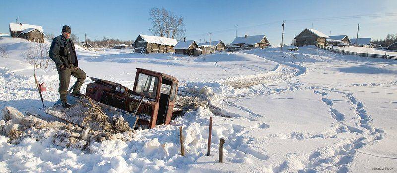 зимняя, сказка Как утопили в Ояти трелевочник...photo preview