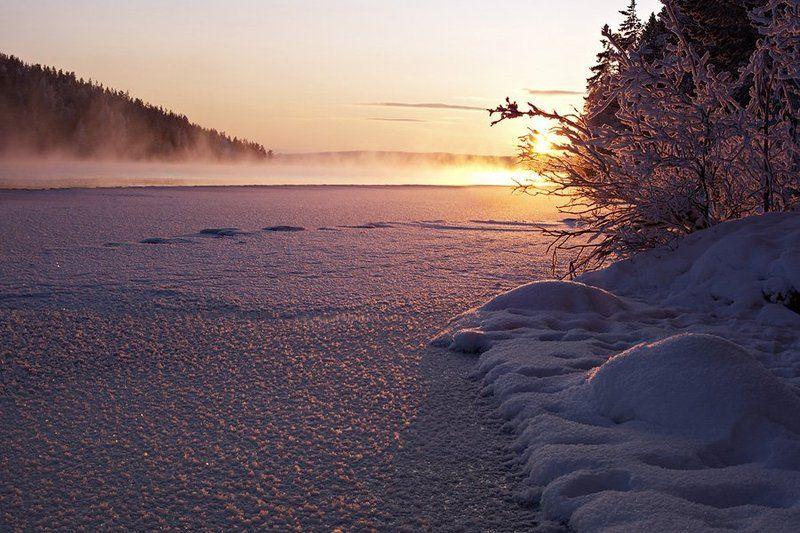 природа,север,зима,закат,пейзаж Фуксиевые закаты севераphoto preview