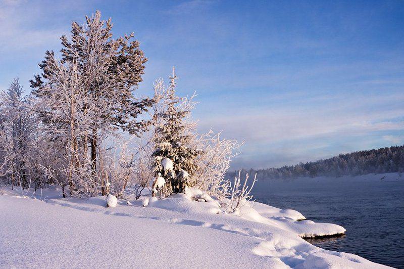 пейзаж,север,зима, Февральским ясным днем на Ниве...photo preview