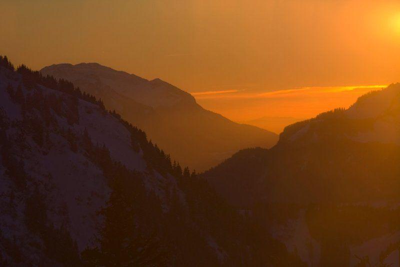 avoriaz, france, kiselyov Альпийский закатphoto preview