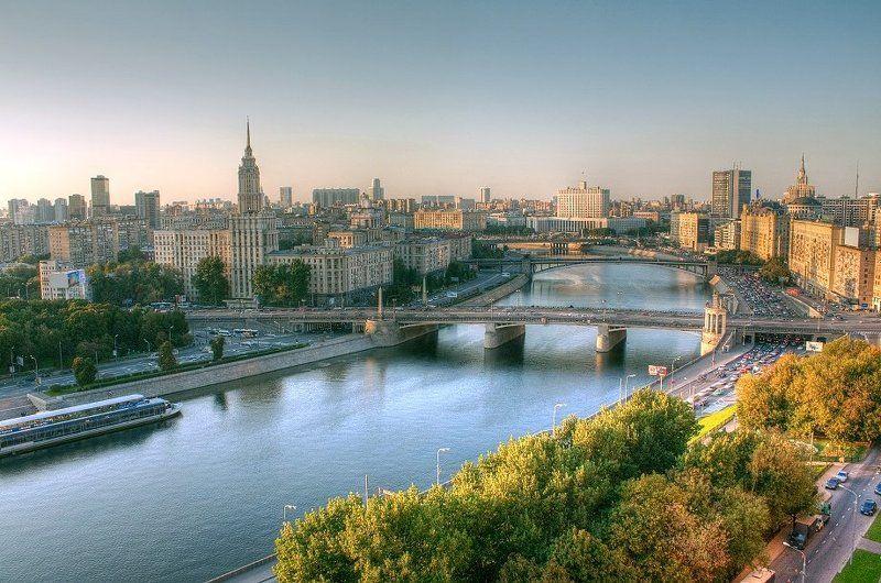 крыша, крыши, город, москва, лето, река, день, солнце ...photo preview