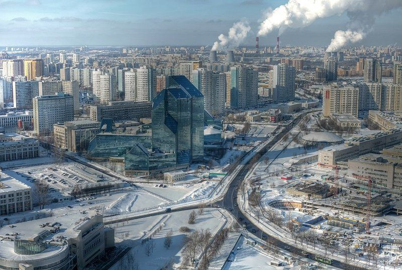 крыша, крыши, город, москва, день, мороз, стекляшка, кристалл, синий зуб, зенит Стекляшка на морозеphoto preview