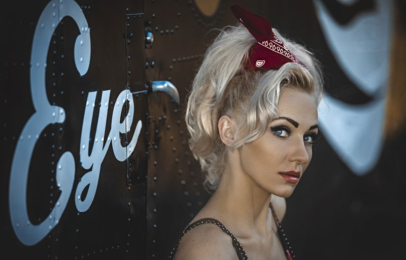 Model, Pin up, Plane, Polish, Portrait, Woman Pinup girlphoto preview