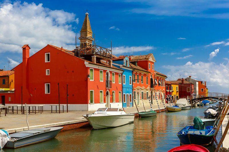 Бурано, Венеция, Венето, Италия, канал еще немного про Бураноphoto preview