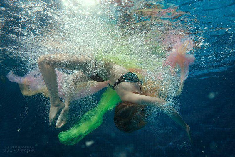 девушка, вода, под водой,  ***photo preview