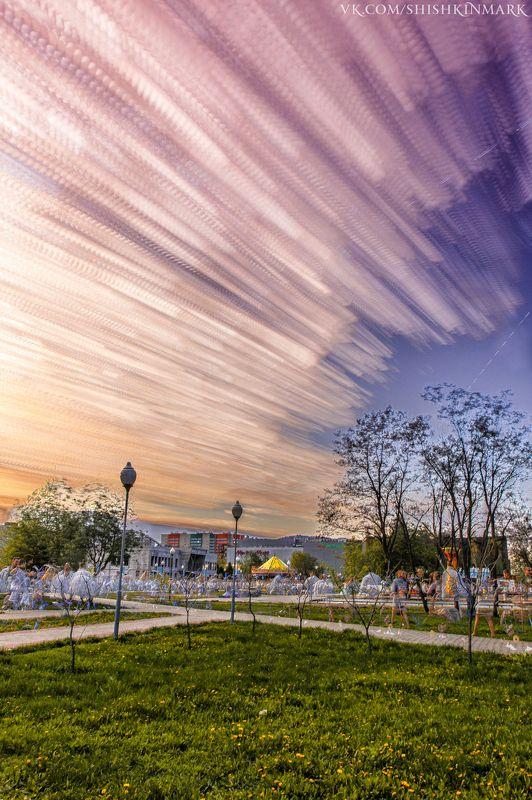 облака, красота, небо, город, Россия, закат Облакаphoto preview