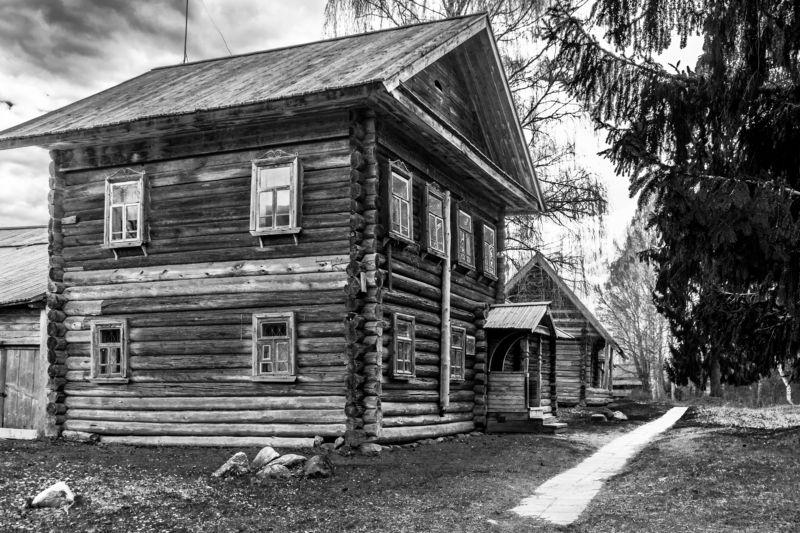 черно-белое,василёво, путешествие, весна, деревянноезодчество Василёво в ч.б.photo preview