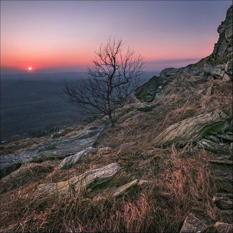 Горы, Закат, Урал Уреньга, весенний закатphoto preview