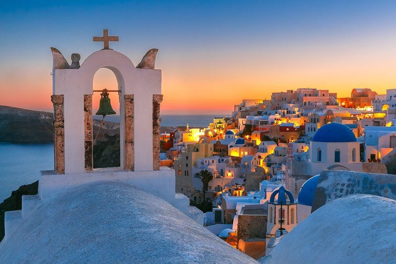 закат ойя санторини греция Ойя на закатеphoto preview