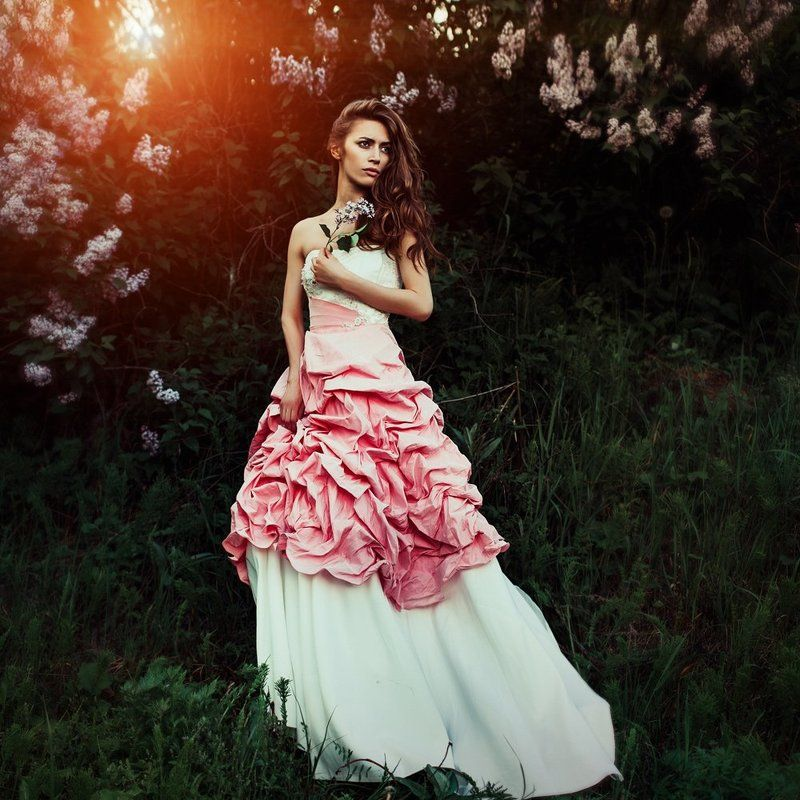 markavgust girl dress flower sunset canon  ***photo preview