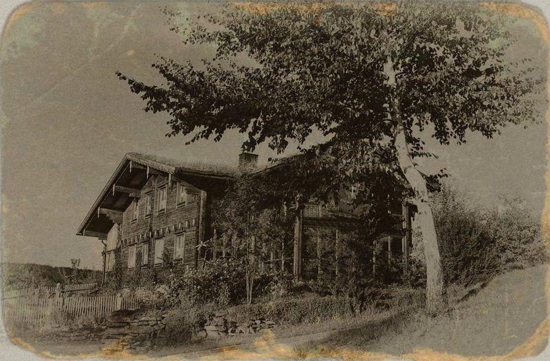 дом,горы,старое фото От самого порога, по заветному крыльцу...photo preview