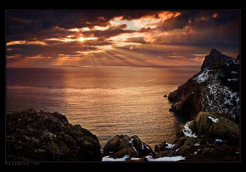 крым, балаклава, море, солнце, закат Балаклаваphoto preview