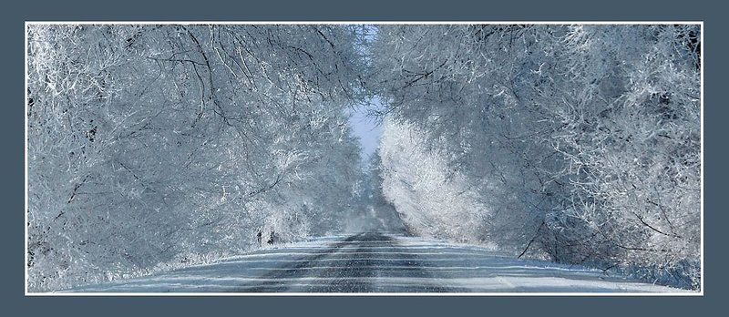 зима, пейзаж, зимняя дорога, снег Зима на Юге России:)photo preview