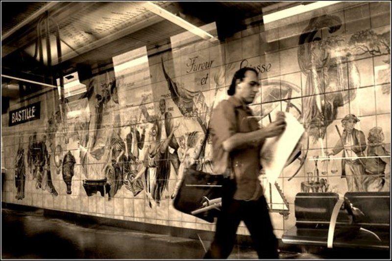париж, метрополитен, подземка, \