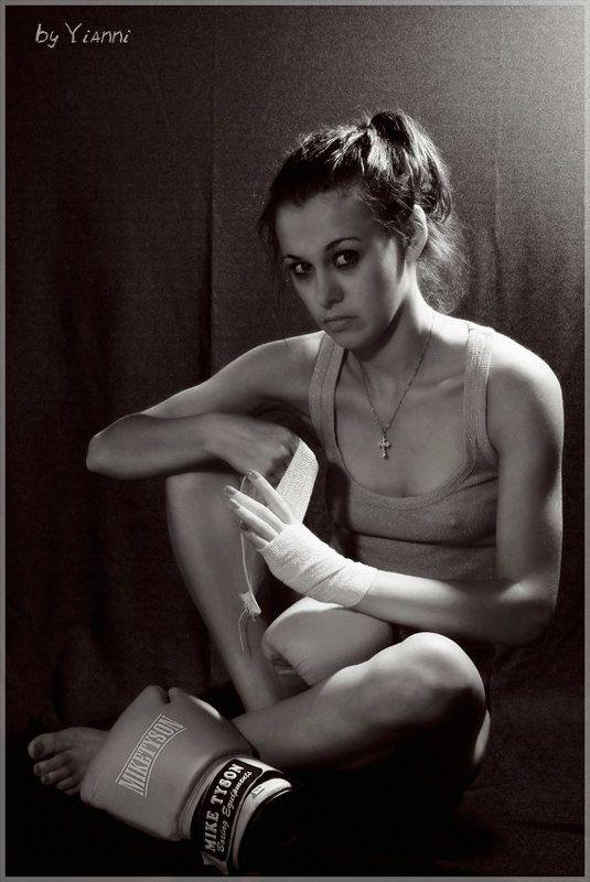 бокс, девушка, схватка, бой Beforephoto preview