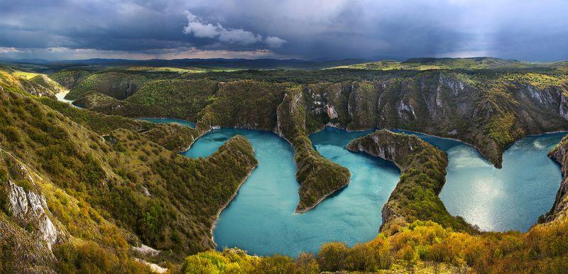 сербия, увац, река Меандры реки Увацphoto preview