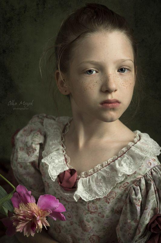 Девочка, Пионы, Полтава, Портрет, Ребенок, Студия, Фото, Фотограф Марина с пиономphoto preview