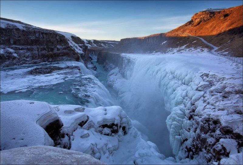 исландия, гульфосс, iceland, gullfoss, водопад, река, зима Исландия. Гульфосс.photo preview