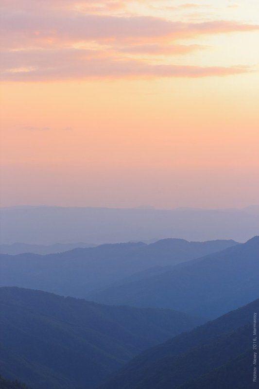 карпаты, горы, вечер, закат, краски, цвета, палитра,  Карпатская палитраphoto preview