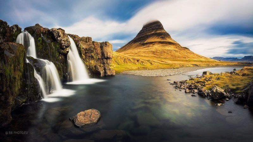 iceland, landscape, panorama, Kirkjufellsfoss , waterfall, river, Kirkjufellsfossphoto preview