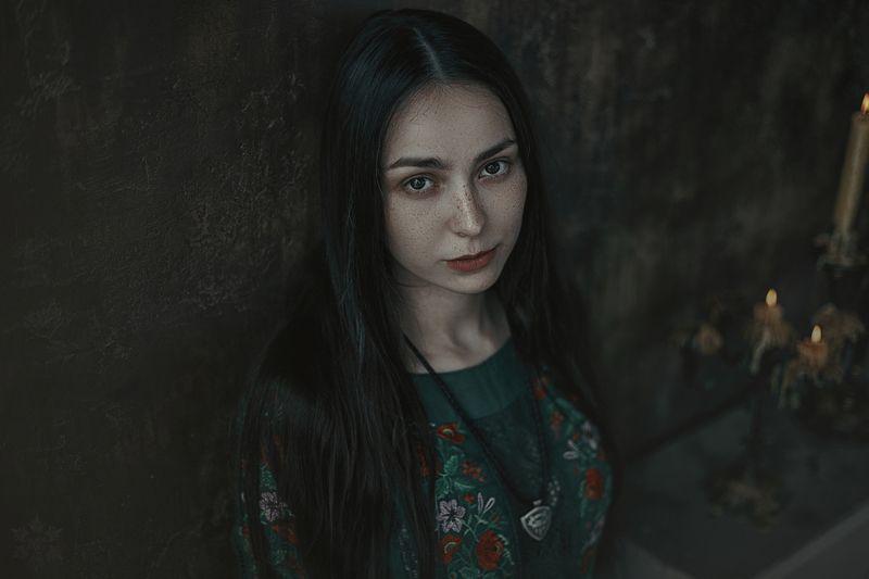 Этника, фолк, девушка с веснушками Юлияphoto preview
