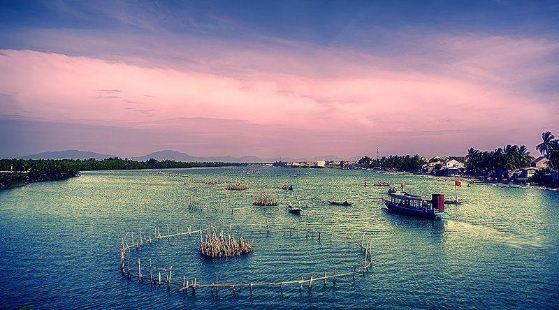 Shrimp farm, Hoi An, Vietnam Shrimp farmphoto preview
