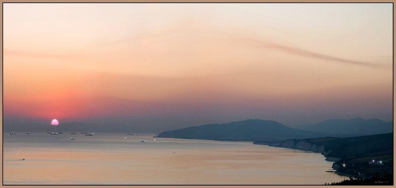 Геленджик, Закат, Море Бухта Геленджик.photo preview