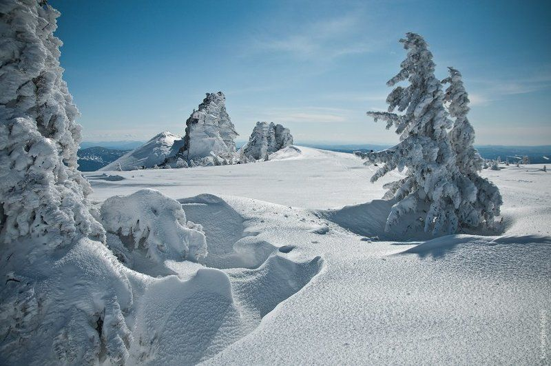 зима, шерегеш, мороз, елки, сибирь, холодно, горы, сноуборд Шерегеш. Горная Шорияphoto preview