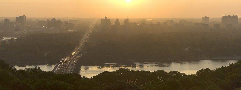 днепр, рассвет, утро, панорама Рассвет на Днепреphoto preview