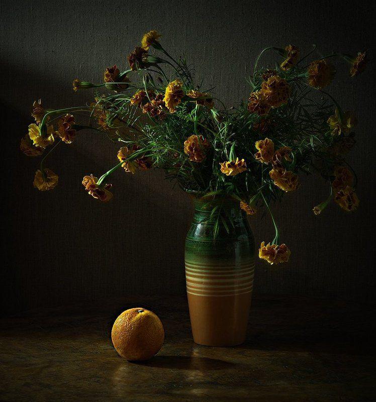апельсин, бархотки апельсинphoto preview