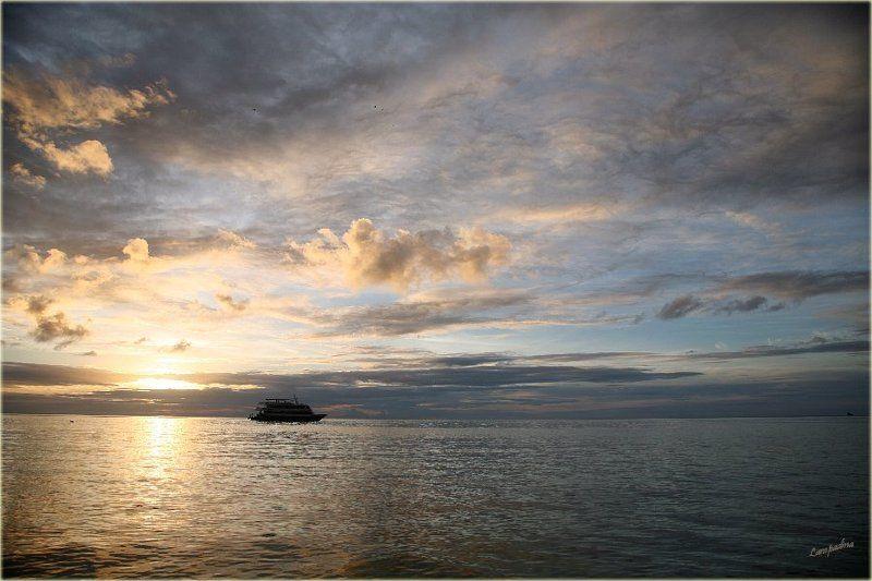 микронезия, палау, необитаемый остров , дайвсудно агрессор, закат \