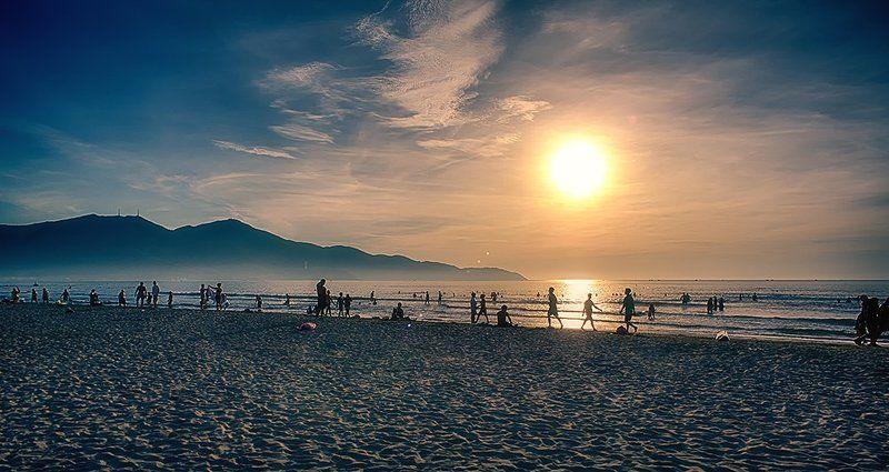 Sunrise, City Beach, Danang, Vietnam Wonderful Danangphoto preview