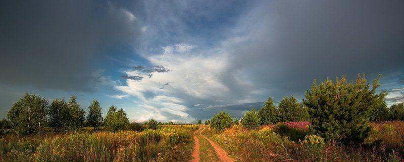 Дорога, Лес, Лето, Небо, Пейзаж, Природа Лето - это маленькая жизнь...photo preview