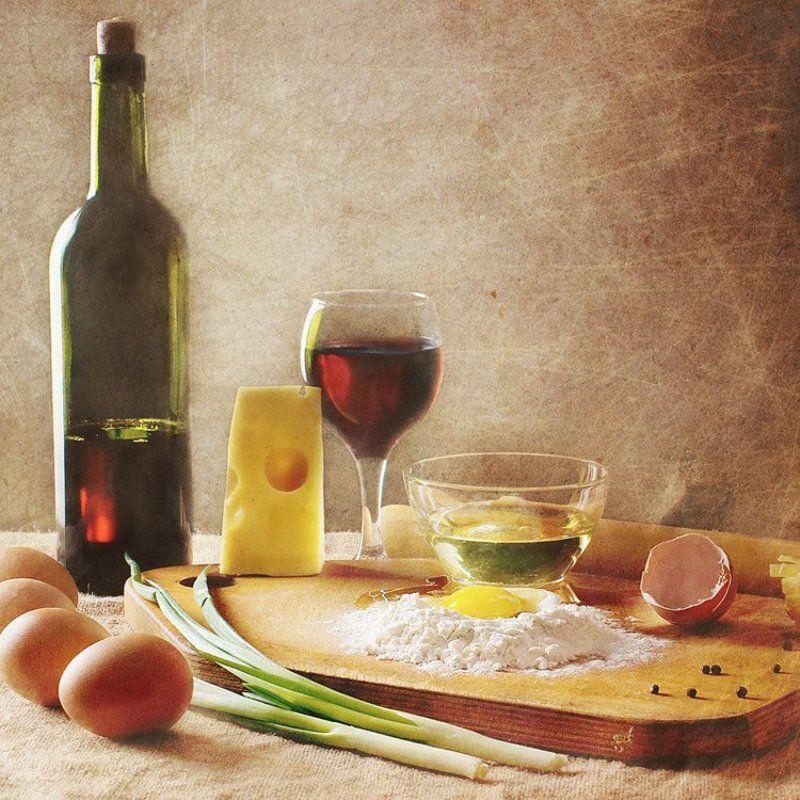 яйцо, мука, сыр, масло, вино, макароны Макаронный замесphoto preview