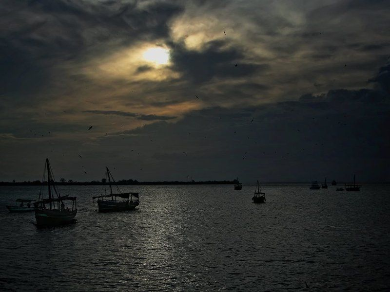 кения, закат, лодки Кения. Закат.photo preview
