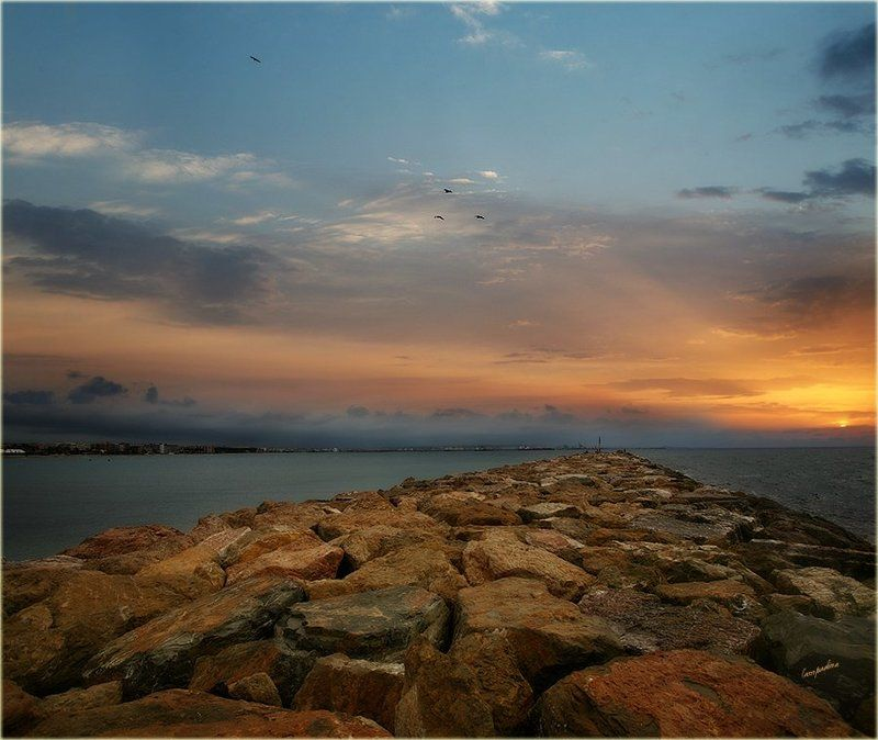 испания, ла пинеда, рассвет, море Путь к солнцу...photo preview