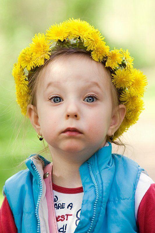 одуванчик, весна, девочка, тепло Одуванчикphoto preview