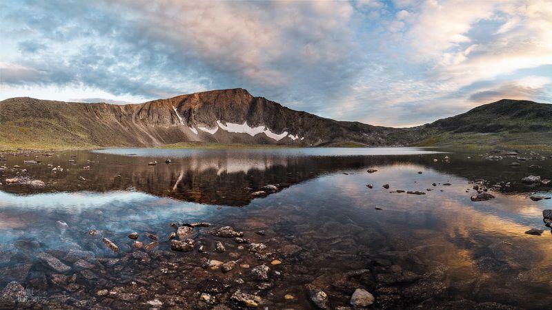 урал, приполярный урал, горы, озеро, отражение, пейзаж, север Озеро Бубликphoto preview