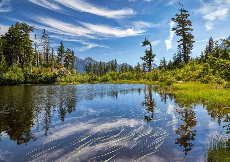 Горы, Озеро, Отражение Озеро в горахphoto preview