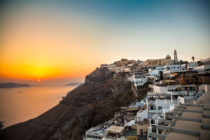 Санторини, Греция, закат, остров Закат на о.Санториниphoto preview