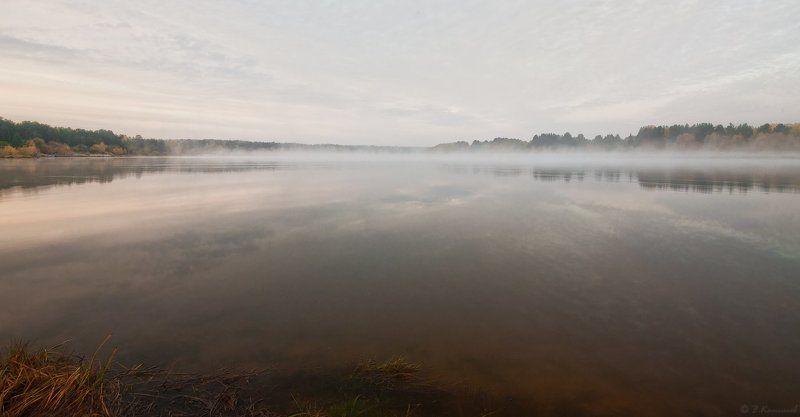 озеро, осень, пейзаж, природа, рассвет, туман Свежесть...photo preview