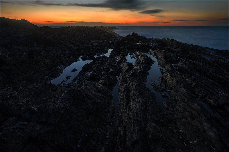 море, закат,  Закат на Баренцевом море.photo preview