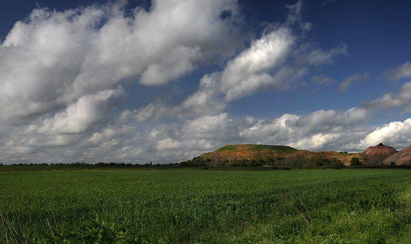 панорама, пейзаж, степь, весна Весна в степи под Новошахтинскомphoto preview
