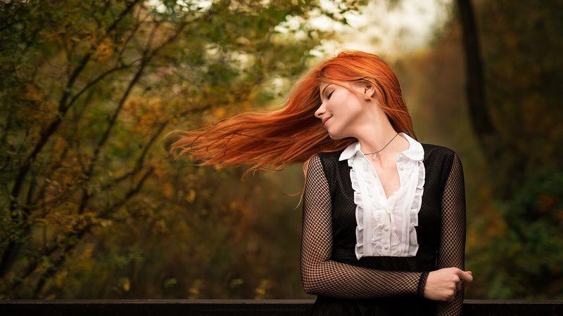 Autumn, Plener, Portrait, Redhair, Redhead, Schoolgirl, Осень, Пленэр, Рыжая, Рыжеволосая, Школьница Foxlifephoto preview