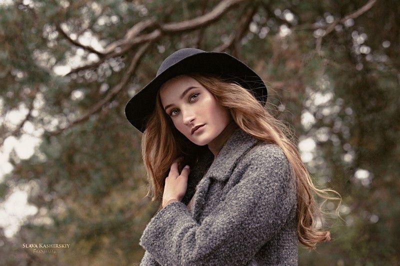 карина, осенняя, tamron, шляпа, лес, ветки Осенняяphoto preview