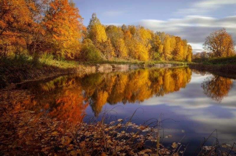Autumn, Clouds, Colours, Leaves, Reflections Colourful autumnphoto preview