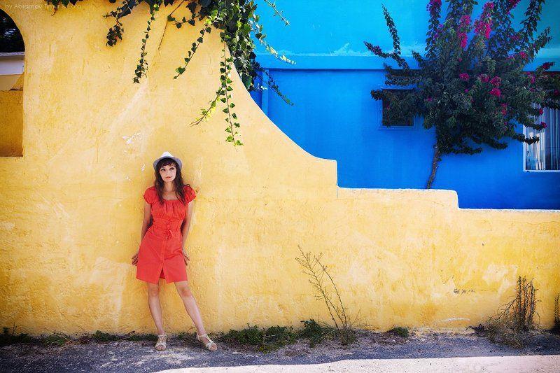 греция, крит, девушка Краски Критаphoto preview