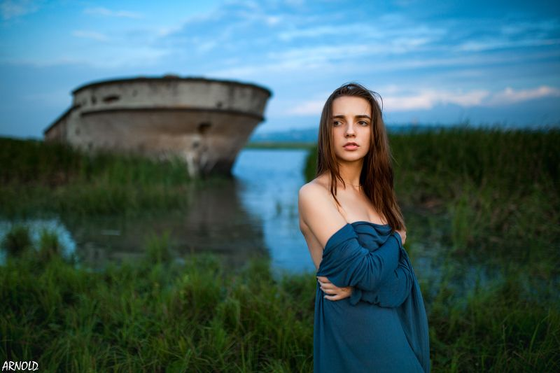 Girl, woman, sexy, morning, nature, water, river, beautiful, cute Природная красотаphoto preview