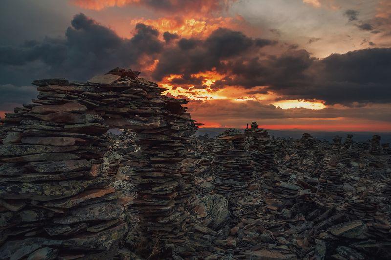 алтай, весна, перевал , горный алтай, закат, перспектива , пейзаж , горы, облака, армагеддонphoto preview